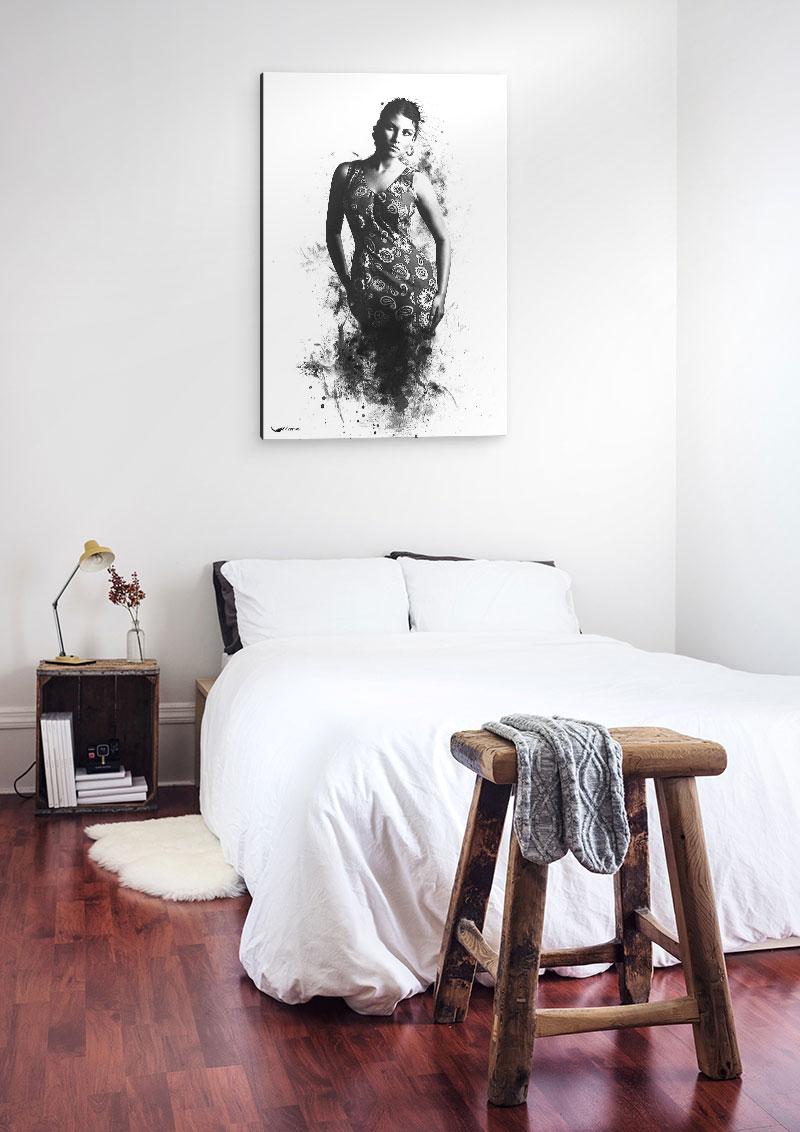 Esperanza - une toile sur le mur d'une chambre